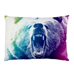 Bear Grizzly Wallpaper Pillow Case (two Sides)