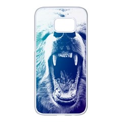 Bear Grizzly Wallpaper Samsung Galaxy S7 Edge White Seamless Case