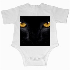 Face Black Eye Cat Infant Creepers