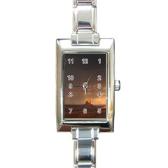 Desert Lighting Strom Flash Rectangle Italian Charm Watch by AnjaniArt