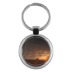 Desert Lighting Strom Flash Key Chains (round)  by AnjaniArt