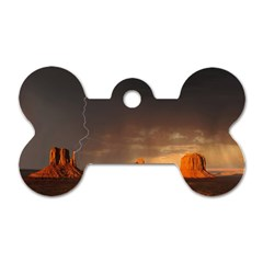 Desert Lighting Strom Flash Dog Tag Bone (two Sides)