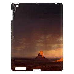 Desert Lighting Strom Flash Apple Ipad 3/4 Hardshell Case by AnjaniArt