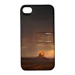 Desert Lighting Strom Flash Apple Iphone 4/4s Hardshell Case With Stand by AnjaniArt