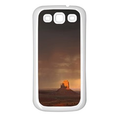 Desert Lighting Strom Flash Samsung Galaxy S3 Back Case (white) by AnjaniArt