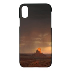 Desert Lighting Strom Flash Apple Iphone X Hardshell Case by AnjaniArt