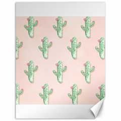 Green Cactus Pattern Canvas 18  X 24