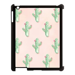 Green Cactus Pattern Apple Ipad 3/4 Case (black) by AnjaniArt