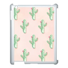 Green Cactus Pattern Apple Ipad 3/4 Case (white) by AnjaniArt
