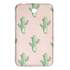 Green Cactus Pattern Samsung Galaxy Tab 3 (7 ) P3200 Hardshell Case  by AnjaniArt