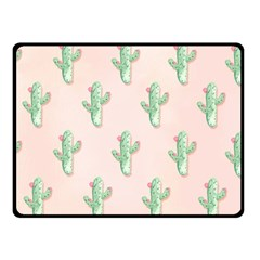 Green Cactus Pattern Double Sided Fleece Blanket (small)  by AnjaniArt