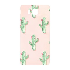 Green Cactus Pattern Samsung Galaxy Alpha Hardshell Back Case by AnjaniArt