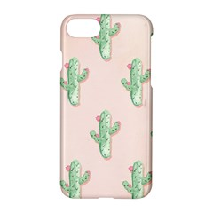 Green Cactus Pattern Apple Iphone 7 Hardshell Case by AnjaniArt