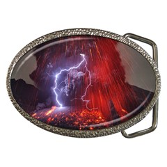 Fire Volcano Lightning Montain Wallpapers Belt Buckles by AnjaniArt