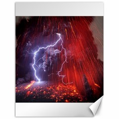 Fire Volcano Lightning Montain Wallpapers Canvas 12  X 16