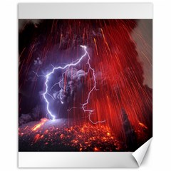 Fire Volcano Lightning Montain Wallpapers Canvas 16  X 20  by AnjaniArt