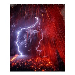 Fire Volcano Lightning Montain Wallpapers Shower Curtain 60  X 72  (medium)