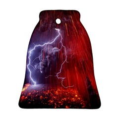 Fire Volcano Lightning Montain Wallpapers Ornament (bell) by AnjaniArt