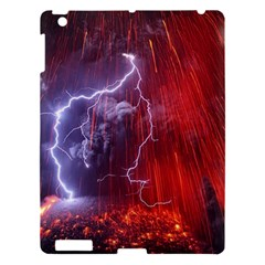 Fire Volcano Lightning Montain Wallpapers Apple Ipad 3/4 Hardshell Case by AnjaniArt