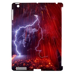 Fire Volcano Lightning Montain Wallpapers Apple Ipad 3/4 Hardshell Case (compatible With Smart Cover) by AnjaniArt
