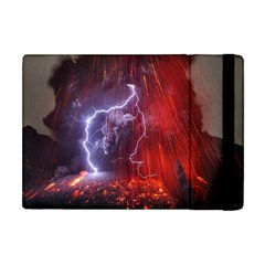 Fire Volcano Lightning Montain Wallpapers Apple Ipad Mini Flip Case by AnjaniArt