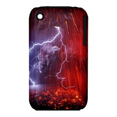 Fire Volcano Lightning Montain Wallpapers Iphone 3s/3gs