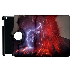 Fire Volcano Lightning Montain Wallpapers Apple Ipad 3/4 Flip 360 Case by AnjaniArt