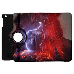 Fire Volcano Lightning Montain Wallpapers Apple Ipad Mini Flip 360 Case by AnjaniArt