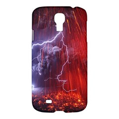 Fire Volcano Lightning Montain Wallpapers Samsung Galaxy S4 I9500/i9505 Hardshell Case by AnjaniArt
