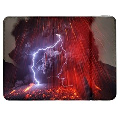 Fire Volcano Lightning Montain Wallpapers Samsung Galaxy Tab 7  P1000 Flip Case by AnjaniArt