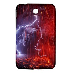 Fire Volcano Lightning Montain Wallpapers Samsung Galaxy Tab 3 (7 ) P3200 Hardshell Case  by AnjaniArt