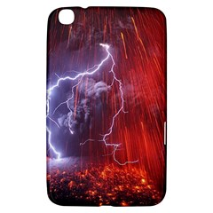 Fire Volcano Lightning Montain Wallpapers Samsung Galaxy Tab 3 (8 ) T3100 Hardshell Case  by AnjaniArt