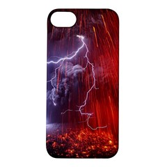 Fire Volcano Lightning Montain Wallpapers Apple Iphone 5s/ Se Hardshell Case by AnjaniArt