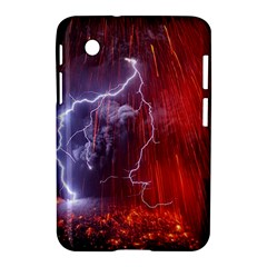 Fire Volcano Lightning Montain Wallpapers Samsung Galaxy Tab 2 (7 ) P3100 Hardshell Case  by AnjaniArt