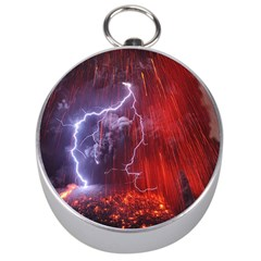 Fire Volcano Lightning Montain Wallpapers Silver Compasses by AnjaniArt