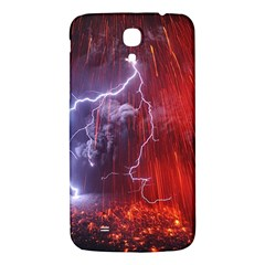 Fire Volcano Lightning Montain Wallpapers Samsung Galaxy Mega I9200 Hardshell Back Case by AnjaniArt