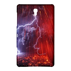 Fire Volcano Lightning Montain Wallpapers Samsung Galaxy Tab S (8 4 ) Hardshell Case  by AnjaniArt