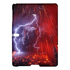 Fire Volcano Lightning Montain Wallpapers Samsung Galaxy Tab S (10 5 ) Hardshell Case  by AnjaniArt