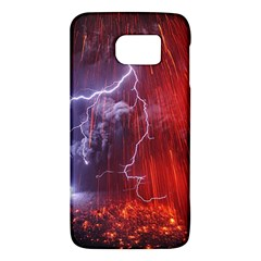 Fire Volcano Lightning Montain Wallpapers Samsung Galaxy S6 Hardshell Case  by AnjaniArt
