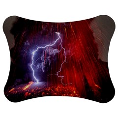 Fire Volcano Lightning Montain Wallpapers Jigsaw Puzzle Photo Stand (bow)