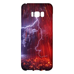 Fire Volcano Lightning Montain Wallpapers Samsung Galaxy S8 Plus Hardshell Case  by AnjaniArt