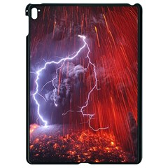 Fire Volcano Lightning Montain Wallpapers Apple Ipad Pro 9 7   Black Seamless Case by AnjaniArt