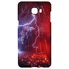 Fire Volcano Lightning Montain Wallpapers Samsung C9 Pro Hardshell Case  by AnjaniArt