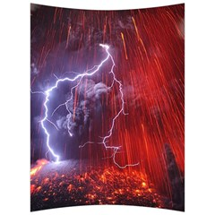 Fire Volcano Lightning Montain Wallpapers Back Support Cushion by AnjaniArt