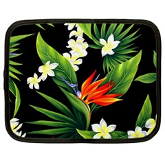Frangipani Flower Netbook Case (large) by AnjaniArt
