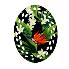 Frangipani Flower Oval Filigree Ornament (two Sides) by AnjaniArt