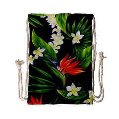 Frangipani Flower Drawstring Bag (small) by AnjaniArt