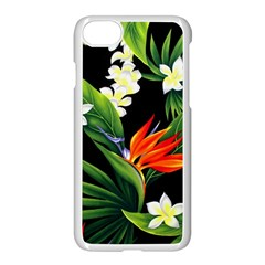 Frangipani Flower Apple Iphone 8 Seamless Case (white) by AnjaniArt