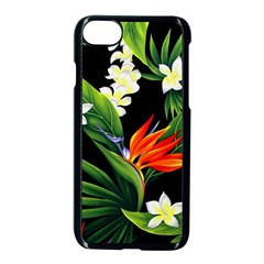 Frangipani Flower Apple Iphone 8 Seamless Case (black) by AnjaniArt