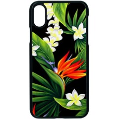 Frangipani Flower Apple Iphone X Seamless Case (black) by AnjaniArt